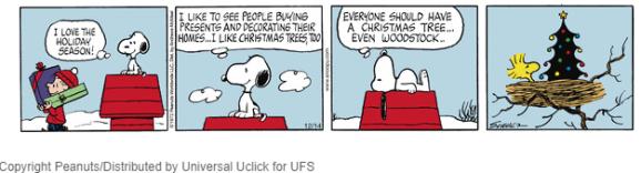 Woodstocks Christmas Tree